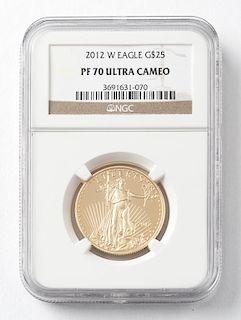 2012 $25 1/2 Oz. American Eagle Gold Coin