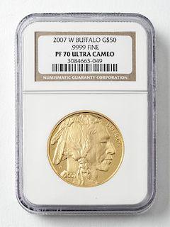2007 $50 1 Oz. Buffalo Gold Coin