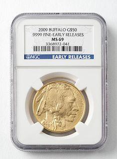 2009 $50 1 Oz. Buffalo Gold Coin