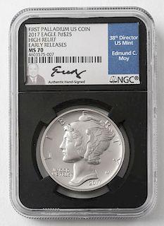 2017 Palladium $25 Coin High Relief