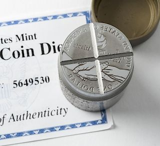 U.S. Mint Cancelled Olympic Coin Die