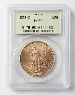 1923-D St. Gaudens Double Eagle $20 Gold Coin