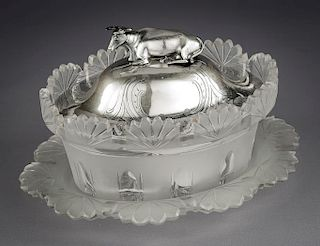 Hawksworth Eyre & Co Sterling Fig Lidded Butter