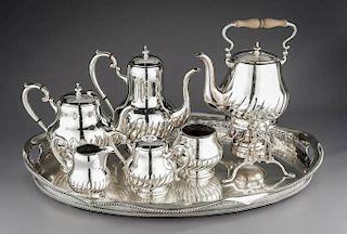 7 Pcs Miyata Sterling Tea Set