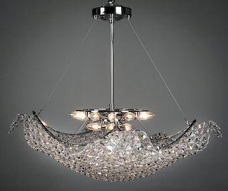 Schonbek Crystal Wave 15 Light Chandelier