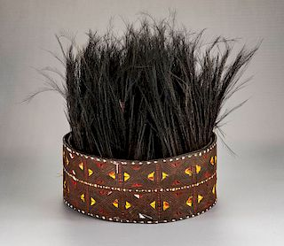 Papua New Guinea Bark Belt & Feather Skirt