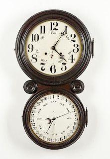 Ingraham Figure 8 Calendar Clock