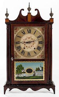 Eli Terry Jr. Pillar & Scroll Shelf Clock
