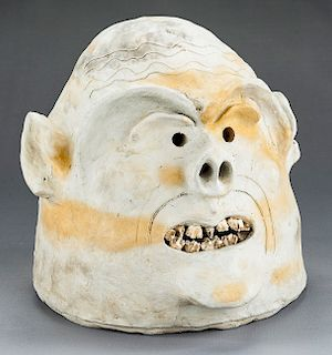 Papua New Guinea Asaro Mudmen's Mask