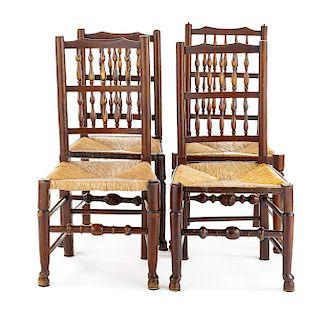 Set of 4 English Vernacular Chairs
