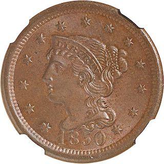 U.S. 1850 1C COIN