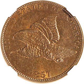 U.S. 1857 FLYING EAGLE 1C COIN