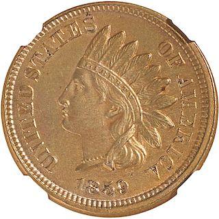 U.S. 1859 INDIAN HEAD 1C COIN