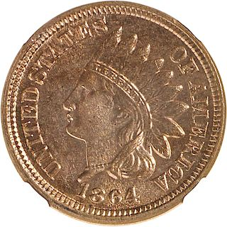 U.S. 1864 COPPER NICKEL INDIAN HEAD 1C COIN