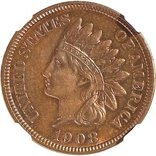 U.S. 1908-S INDIAN HEAD 1C COIN