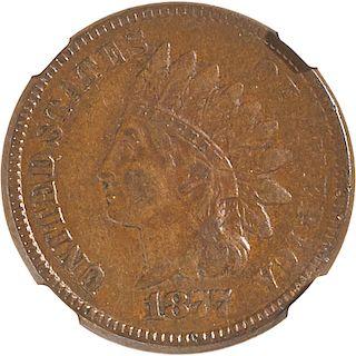 U.S. 1877 INDIAN HEAD 1C COIN
