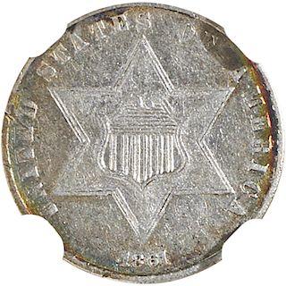 U.S. 1861 SILVER 3C COIN