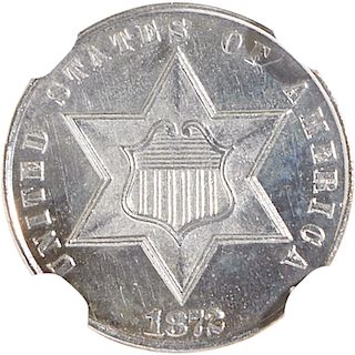 U.S. 1872 PROOF SILVER 3C COIN