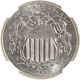 U.S. 1869 SHIELD 5C COIN