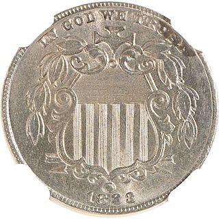 U.S. 1883 SHIELD 5C COIN