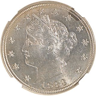 U.S. 1883 WITH CENTS LIBERTY 5C COIN