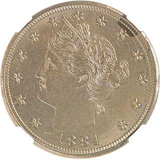 U.S. 1884 LIBERTY 5C COIN