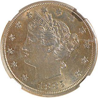 U.S. 1885 LIBERTY 5C COIN