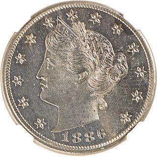 U.S. 1886 PROOF LIBERTY 5C COIN