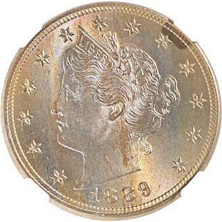 U.S. 1889 LIBERTY 5C COIN