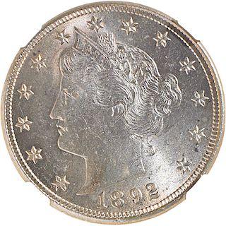 U.S. 1892 LIBERTY 5C COIN