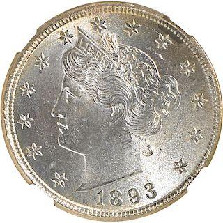 U.S. 1893 LIBERTY 5C COIN