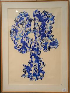 Mitsuo Kano (B. 1933), intaglio, Soldered Blue 1964, signed in pencil lower right: M. Kano Epd' Artiste, original artist label on ve...