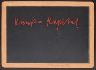 Joseph Beuys Screenprint Mixed Media, Signed Edition