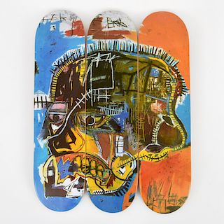 3 Jean-Michel Basquiat (after) Skateboard Decks