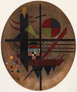 """After Wassily Kandinsky (1866-1944) """"Message intime"""""""