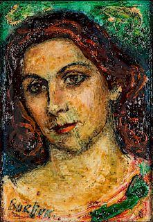 David Burliuk (1882-1967) Portrait of a Lady
