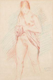 Raphael Soyer (1899-1987) Standing Nude