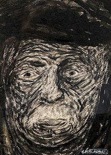 Abraham Walkowitz (1878-1965) Portrait of a Man