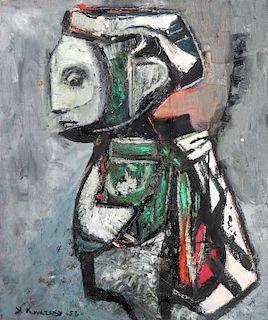 Yehoshua Kovarsky (1907-1967) Painting, 1958