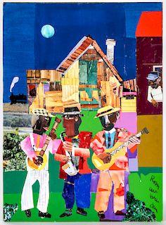 Romare Bearden (American, 1911-1988) Collage