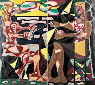 "Jack Gerber (b. 1927) ""Two Women on the Beach"", 1962"