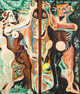 Jack Gerber (b. 1927) Adam and Eve, 1966