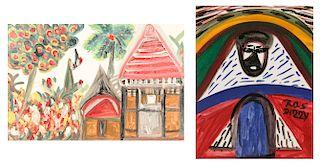 Ras Dizzy (Jamaican, 1932-2008) 2 Paintings