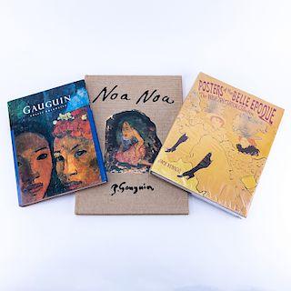 Grouping of Three (3): Paul Gauguin Hardcover book by Robert Coldwater, Paul Gauguin Noa Noa Editio