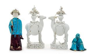 Four Chinese Porcelain Figures Height of the tallest 11 1/2 inches.