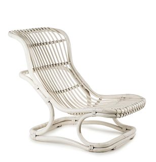 Punto e Virgola' wicker chair, 1960s
