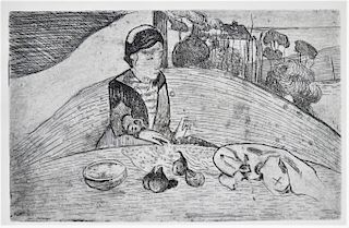 Paul Gauguin La Femme aux Figues Etching