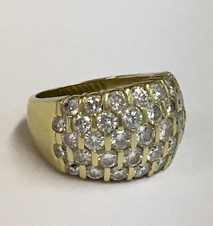 18K YELLOW GOLD & DIAMOND FASHION RING