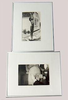 2 B & W PHOTOGRAPHS BY CHRISTOPHER MAKOS