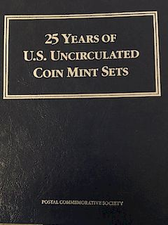 25 YEARS US MINT UNCIRCULATED SETS (1962 - 1988)